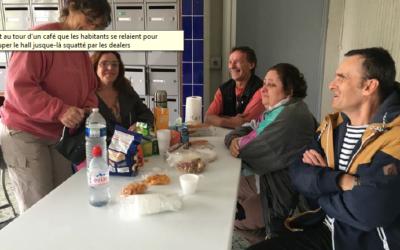 INFO FRANCE BLEU : A Poitiers, les habitants d'un immeuble HLM occupent leur hall pour empêcher le business des dealers